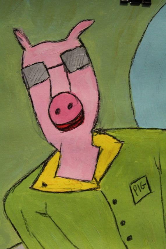 Pig Man. by PaintingsbyKuchera on Etsy
