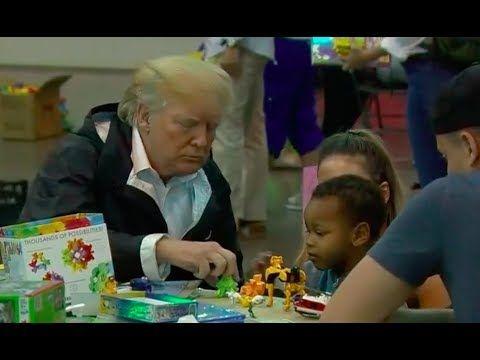 President Trump Visits Survivors at Hurricane Harvey Relief Center 9/2/17 - YouTube