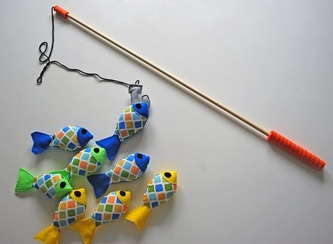 De Fieltro Para PescarJostailuak Hacer Pescados Caña gYbf7y6