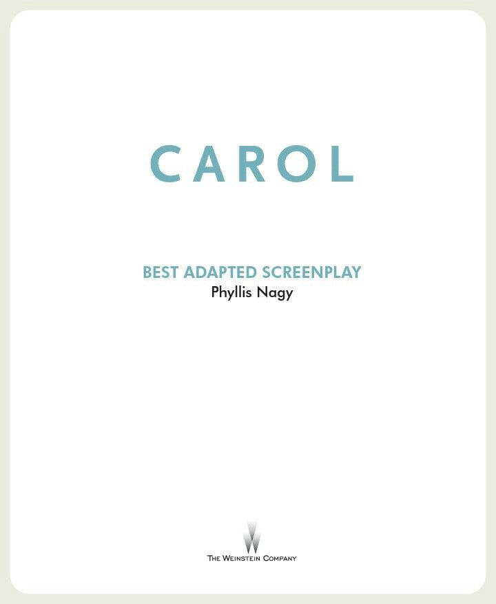 """Phyllis Nagy took fifteen years to write the film adaptation of Carol, Patricia Highsmith's novel, formerly called """"The Price of Salt"""". 📕 ✏"""