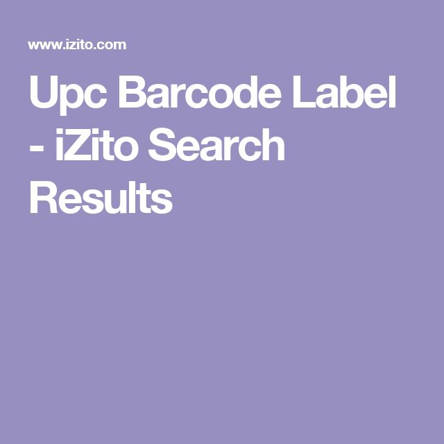 Upc Barcode Label - iZito Search Results