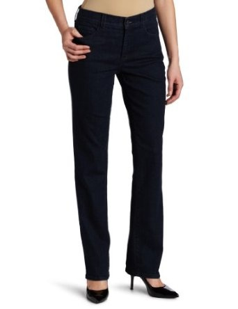 Best Buy NYDJ Women's Marylin Straight Leg Jeans, Tonal Blue Black, 8