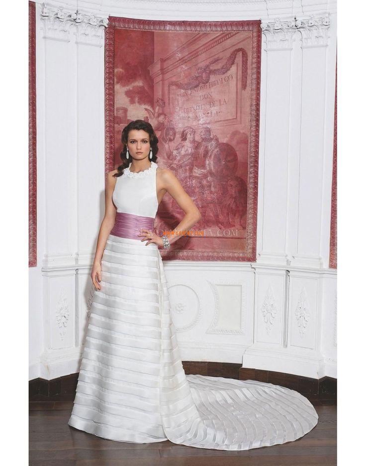 Kostel Áčkový střih Přírodní Luxusní svatební šaty