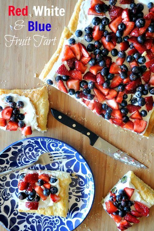 Red White  Blue Fruit Tart, @Kelley Epstein {Mountain Mama Cooks}