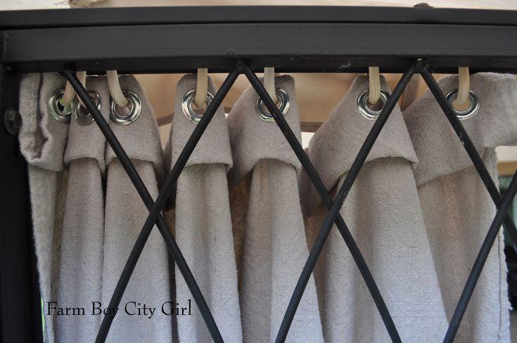 Gazebo Curtains - No Sewing