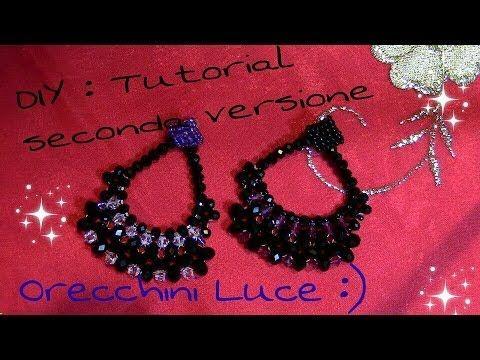 DIY: Tutorial orecchini LUCE ^_^ - YouTube