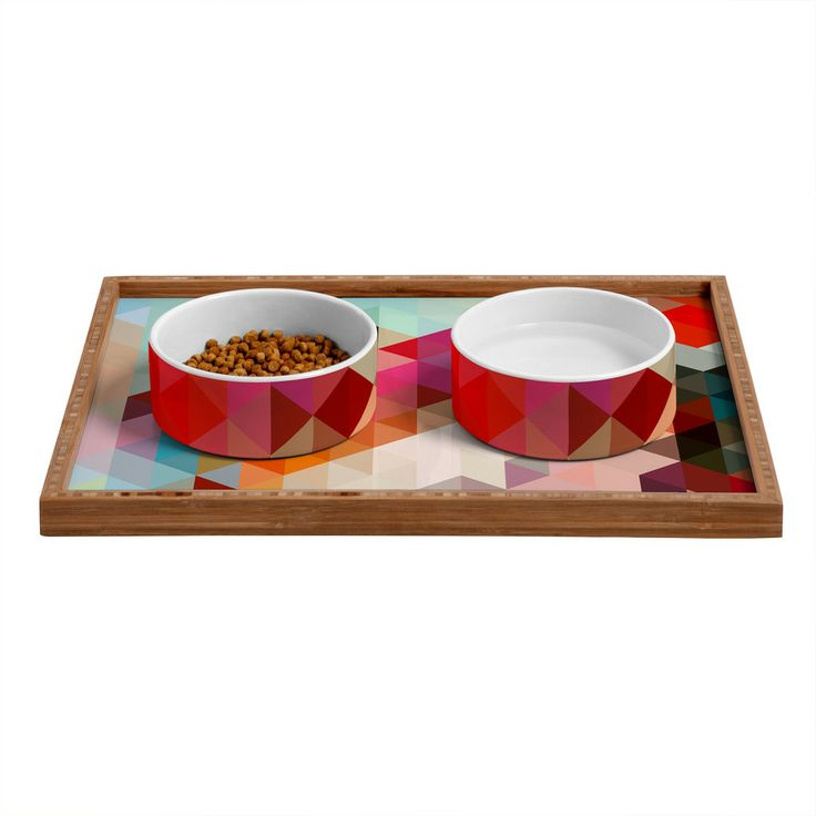 Three Of The Possessed Words Heavy 2 Pet Bowl and Tray   DENY Designs Home Accessories