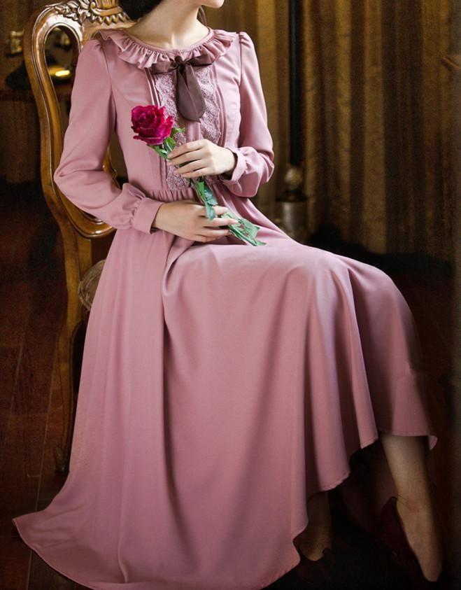 S-XL Dark Pink Fairy Lady Long Dress SP154225 - SpreePicky - 8