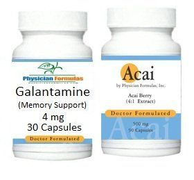 Free Acai, 500mg, 90 Capsules w/ Galantamine, Memory Support, with Vitamin B5, 4 mg, 30 Capsules - Endorsed by Ray Sahelian, MD by Advance Physician Formulas. $20.45. Mental clarity & Concentration. Alertness & Focus. Ships within 1 business day w/ *FREE SHIPPING*. Free Bottle of Acai- 500mg, 90 Capsules. Memory & Mood Support