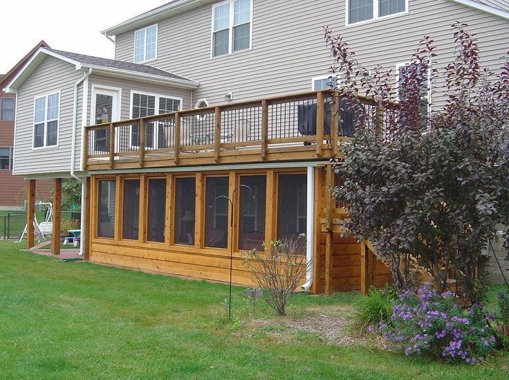deck ideas | Under Deck Screen Porch, Johnston (with Hot Tub) - Screened Porches ...