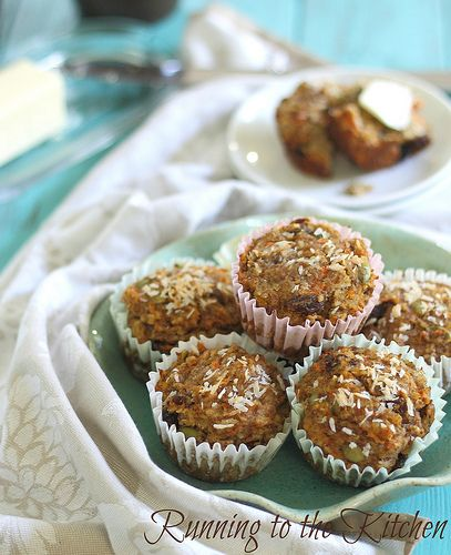 "Carrot raisin ""everything"" muffins. #paleo #grainfree #glutenfree"