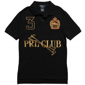 Ralph lauren boys black 39 prl club 39 polo shirt at for Ralph lauren polo club shirts