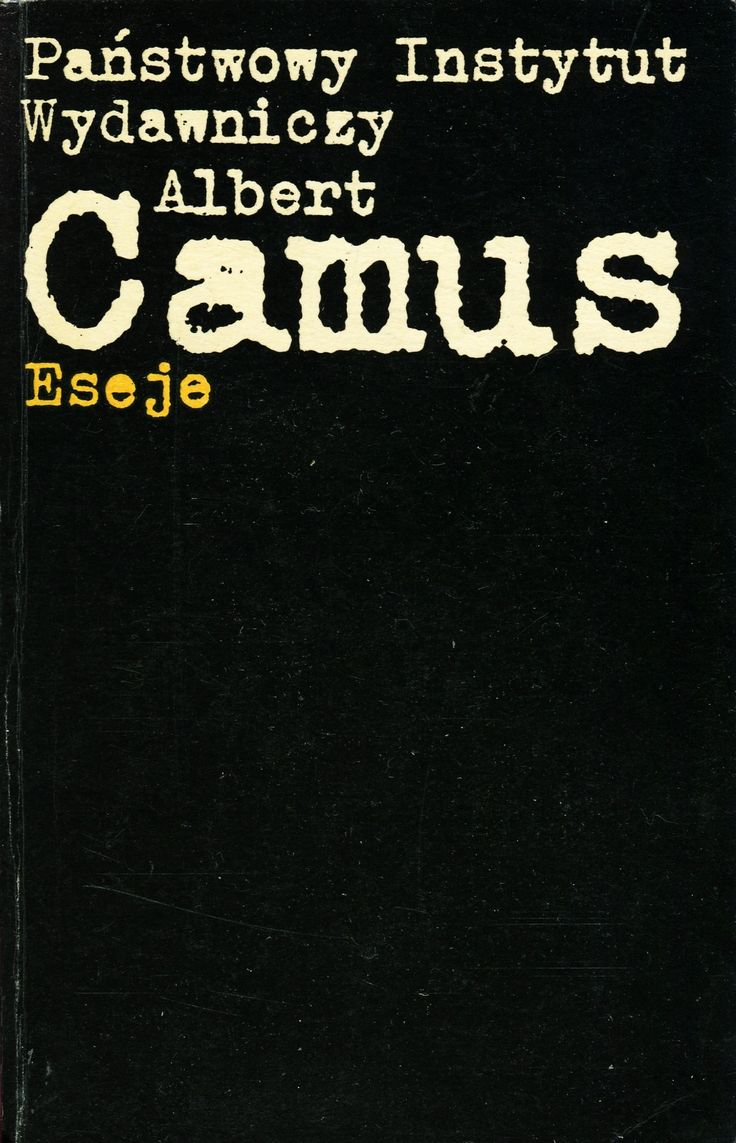 ESEJE Albert Camus, Warszawa 1974, book cover by Jan Bokiewicz  #typography