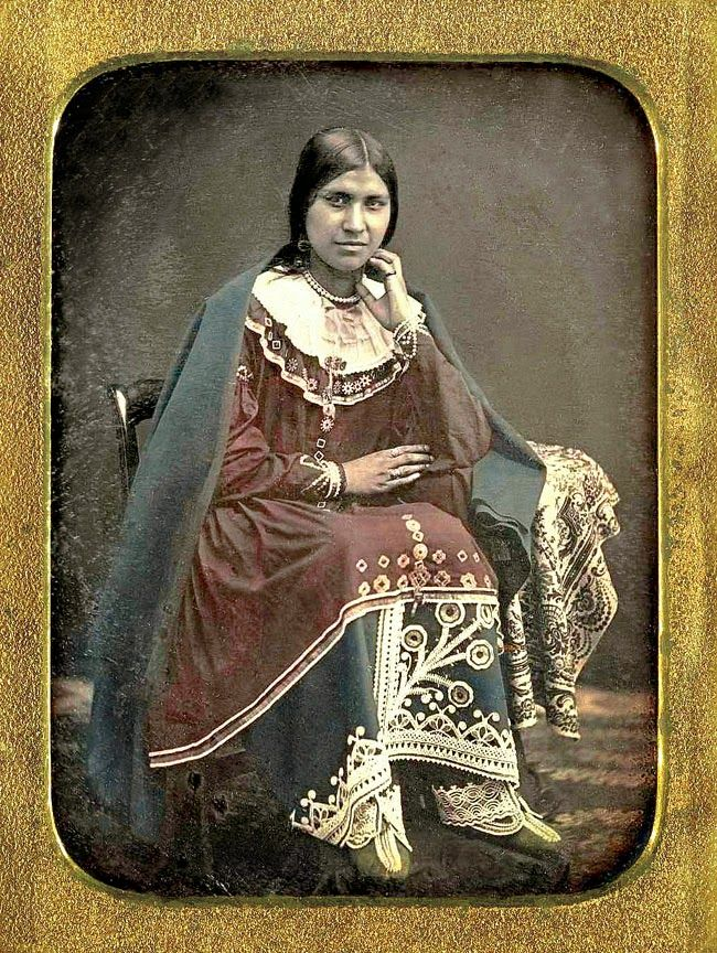 Circa 1850 daguerreotype of Caroline Parker, a Seneca from the Tonawanda Reservation in western New York. Private collection.