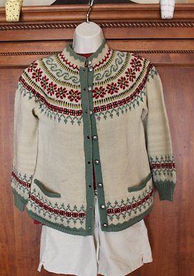 Vintage Norwegian Handmade 100 Wool Jumper Green Sweater Small ' | eBay