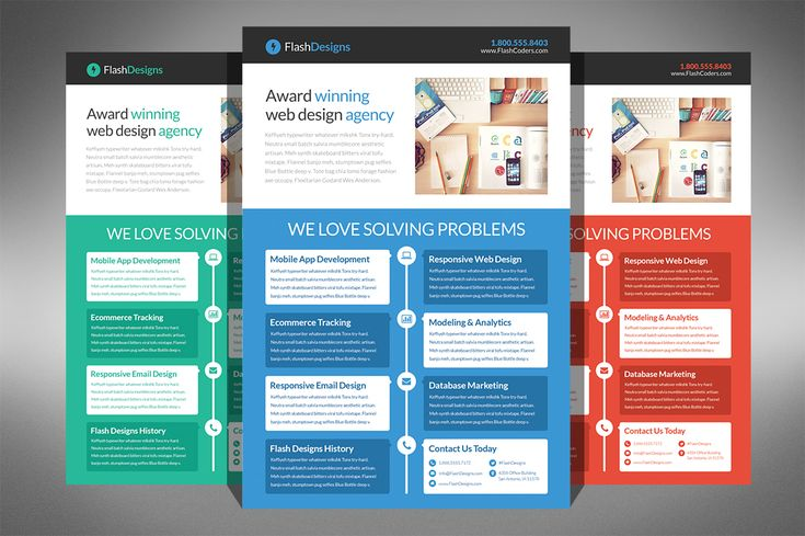 Flat Design Web Design Agency Flyer By Creativenauts On Creative