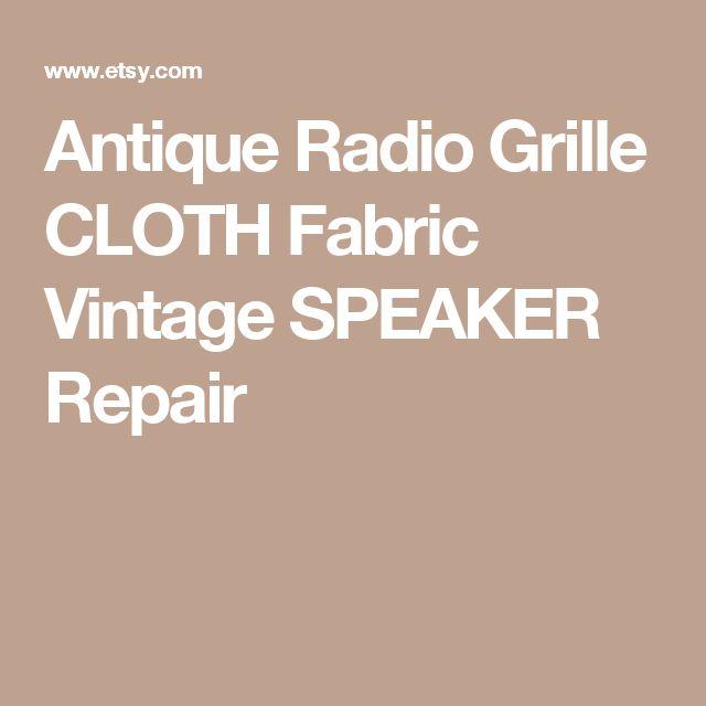 Antique Radio Grille CLOTH Fabric Vintage SPEAKER Repair