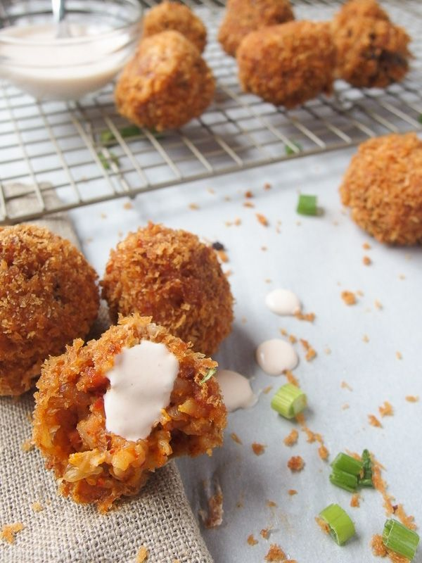 The best Kimchi Fried Rice Balls recipe by KimchiChick. Kimchi, bacon, and rice is formed into a bite size ball then fried to a golden brown.
