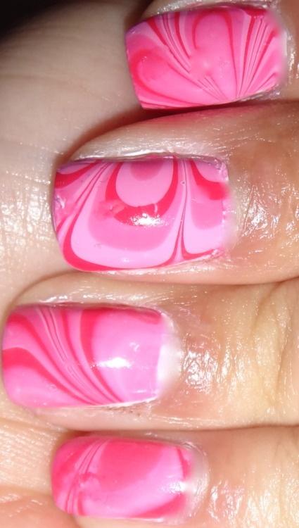 pink water marble nails: Nail Polish, Inspiration Nails, Water Marble Nails, Nail Designs, Nailpolish, Makeup, Nail Art, Nails 3