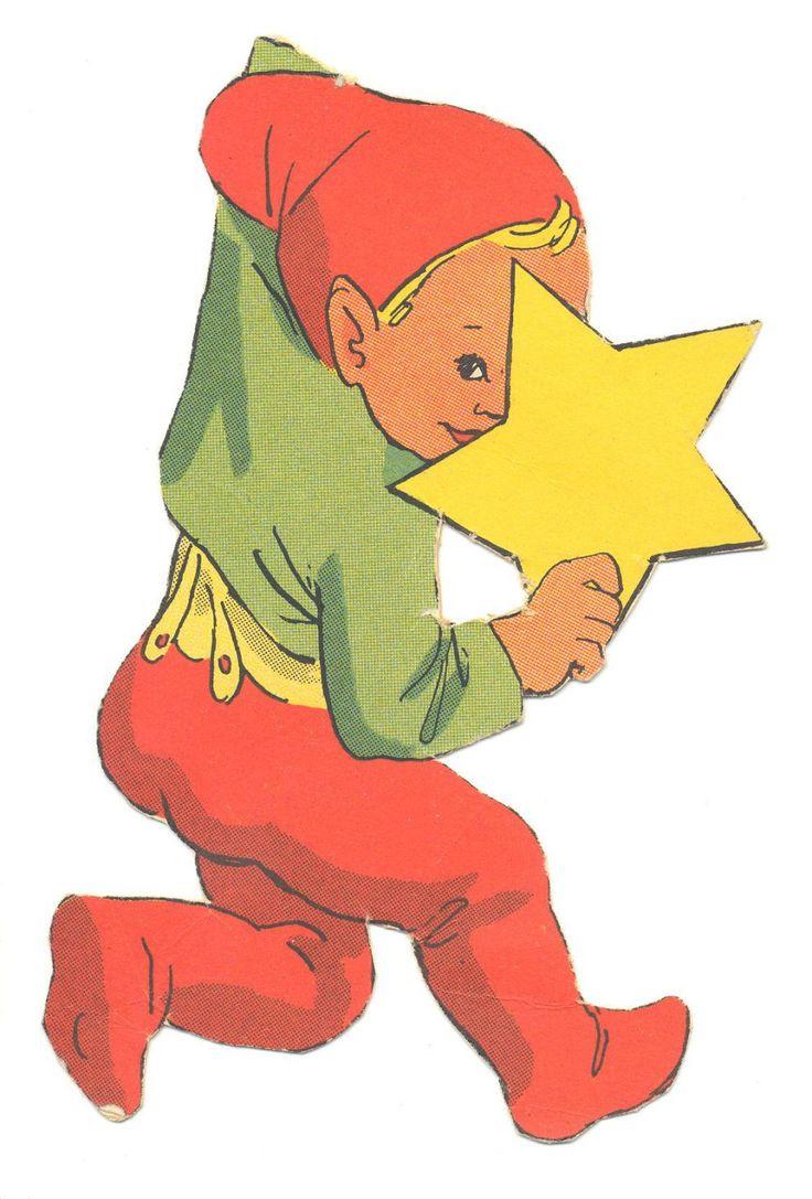"""DANISH Kravle nisser   Syv nisser fra samme ark, som jeg vil tro repræsenterer ILLAS tidligste kravlenisse-streger. Arket har titlen """"Dekorationsnisser"""", ligesom adskillige andre af hen-des ark fra omkring 1950. ENGLISH Crawl gnome from ILLA's earliest kravle nisse {crawl pixie} Sheet titled """"decorative gnomes"""", like other how-to-sheets from the late 40s early 50s."""
