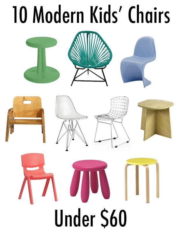 10 Modern Kids' Chairs Under $60