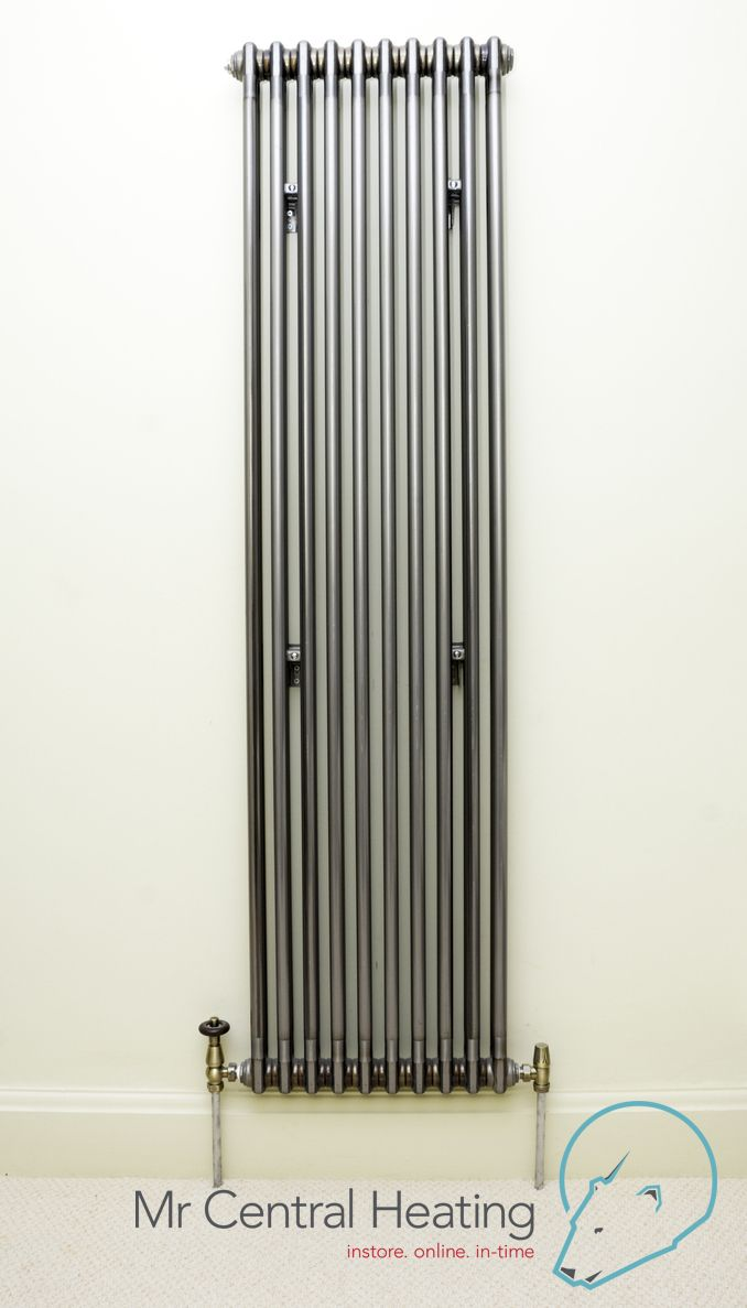 Vertical Raw Metal Column Radiators with Bentley Traditional Valves : sectional radiators - Sectionals, Sofas & Couches