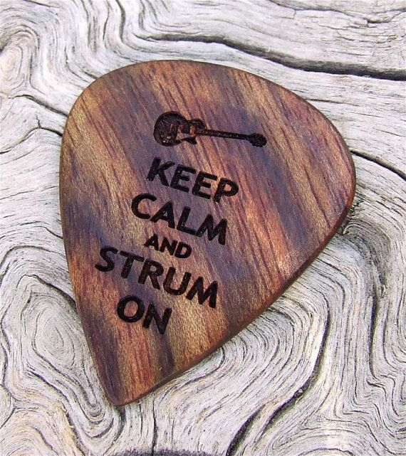 Caribbean Rosewood Guitar Pick  Handmade Laser by NuevoWoodcrafts, $21.95