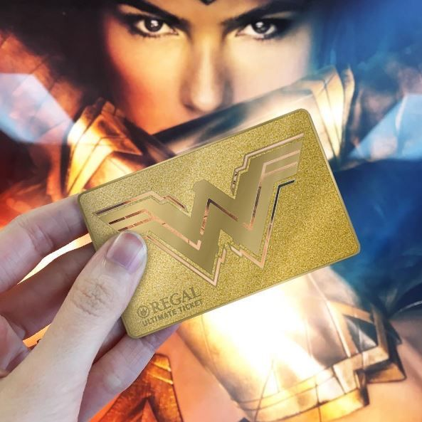 Need some Wonderful Monday news? The Regal Ultimate Ticket is back! See Wonder Woman every day, in any format with this limited edition steel collectible card! On sale NOW!