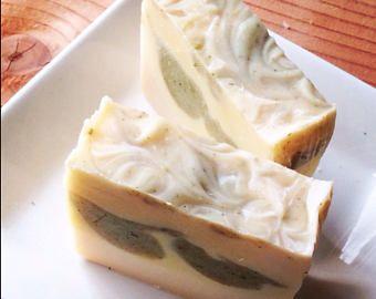 Premium soap {LEMONGRASS & SAGE} 100% Organic Base ~Botanical W/Avocado  + Lemongrass Essential oil