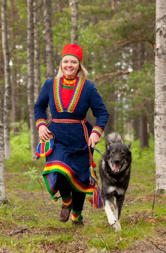 Sami folk costume from Arvidsjaur