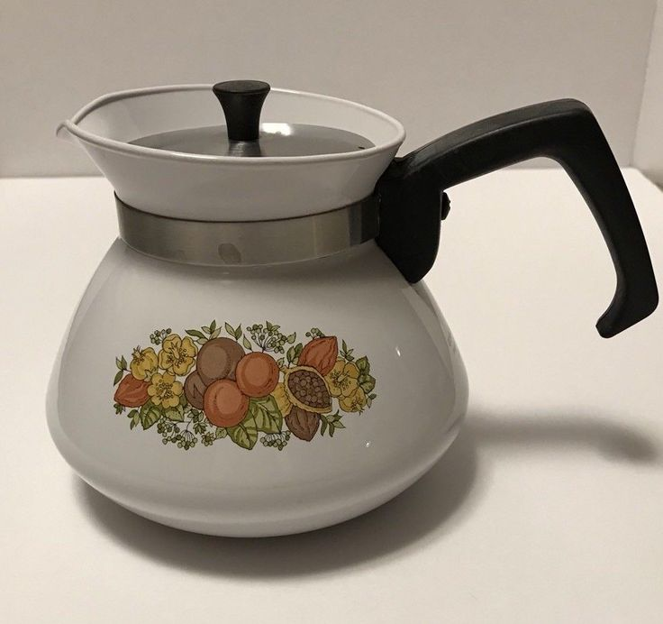 Corning Ware Spice Of Life Stove Top Teapot With Metal Lid 900ml P-104B | eBay
