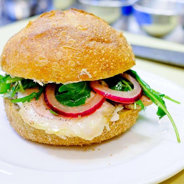"63 curtidas, 2 comentários - The John Dory Oyster Bar (@thejohndory) no Instagram: ""On our lunch menu: Pork sandwich with arugula and tuna-caper mayonnaise. #thejohndoryoysterbar #JDOB"""