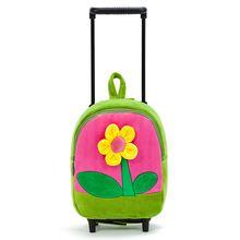 NOVA Bagagem de Rolamento Flor Das Meninas da escola saco de Viagem Bagagem Mala Rodízios Fixos avião rosa azul crianças…