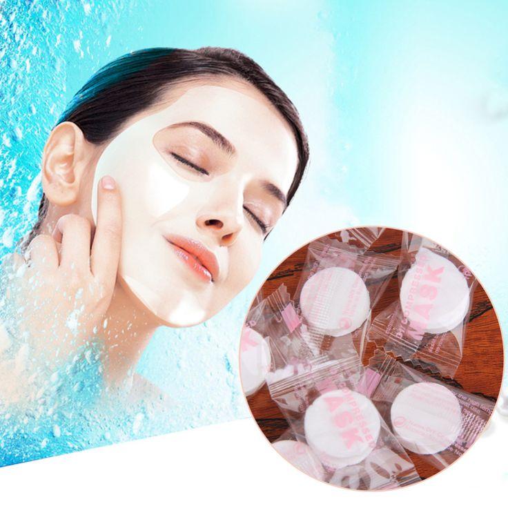100 stks DIY Vrouwen Natuurlijke Gezichtsmasker Comprimeren Masque Hydraterende Gecomprimeerde Facial Maskers Katoen Huidverzorging Schoonheid Gezichtsverzorging Tool