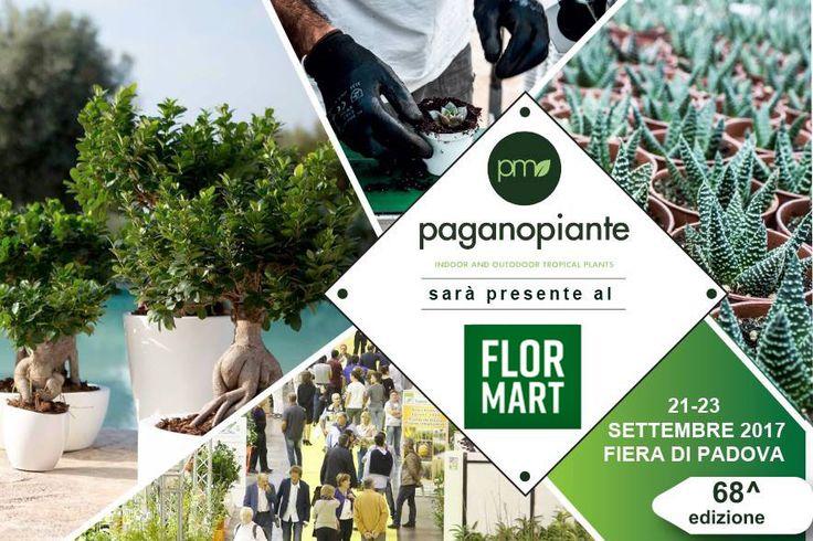 Dal 21 al 23 settembre Paganopiante sarà presente alla 68^ edizione del Flormart, il salone interazionale del settore florovivaistico