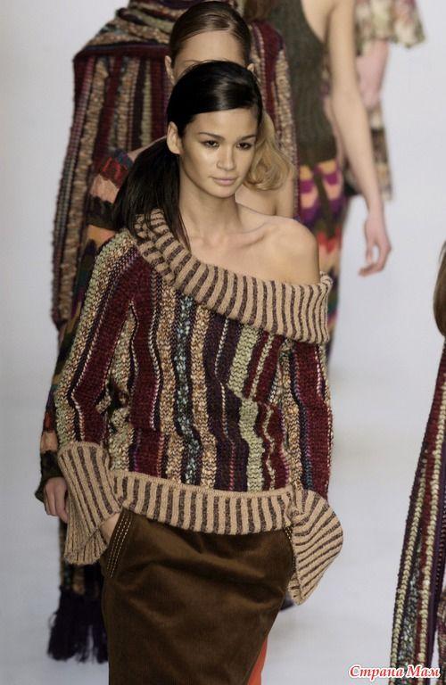 Мода с подиума: яркие и красочные модели Missoni