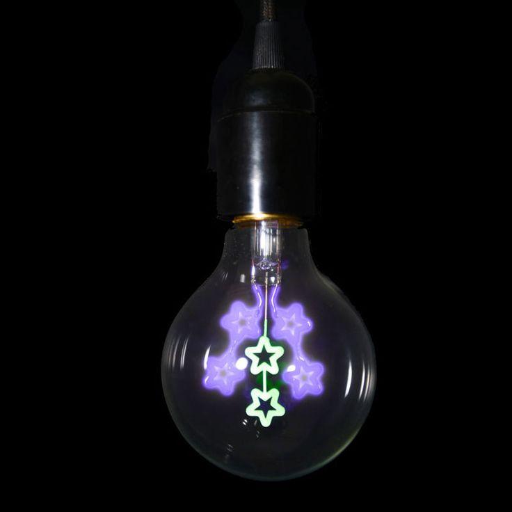 danlamp stars decorative light bulb unusual light bulb - Decorative Light Bulbs