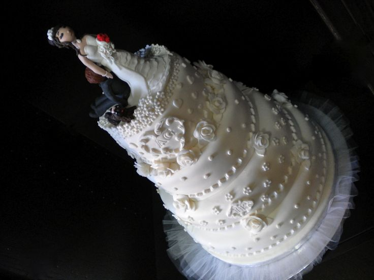 Rose bianche per gli sposi