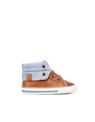 I LOOVE THESE for Jack - fold-over high-top sneaker - Boots and ankle boots - Shoes - Baby boy (3-36 months) - Kids - ZARA