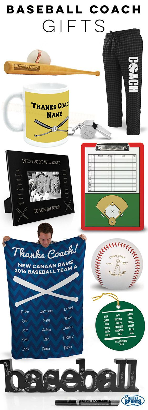 Your baseball coach has dedicated so much of their time to make sure your season was a success! Treat them to an amazing end-of-season gift, only from ChalkTalkSPORTS!