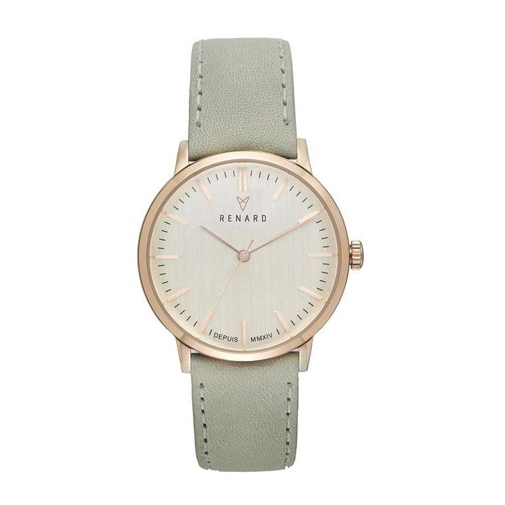 Het Renard Elite horloge combineert een stijlvol, klassiek design met prachtige, duurzame materialen. De slanke, gepolijste kast is afgedekt met een licht bollend mineraalglas. De polsband van Italiaans leer maakt het horloge helemaal af!