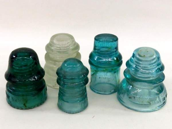 87 best images about insulators on pinterest antique for Glass telephone pole insulators
