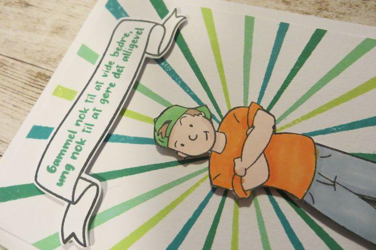 detalje billede-stemplet Teenage Drenge af NHH Design. kortet er lavet af Solveig Heldt