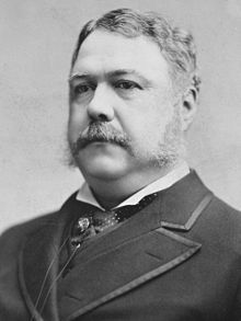 Chester A. Arthur the 21st President and was in office September 19, 1881-March 4, 1885
