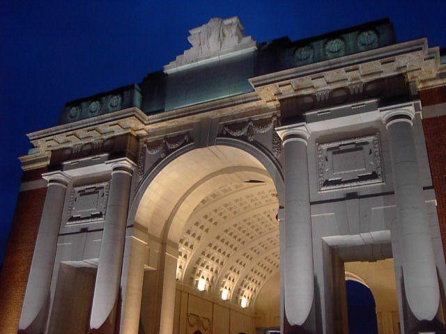 Menin Gate  honours fallen soldiers - Ieper, Belgium. Beautiful place by day n by night.