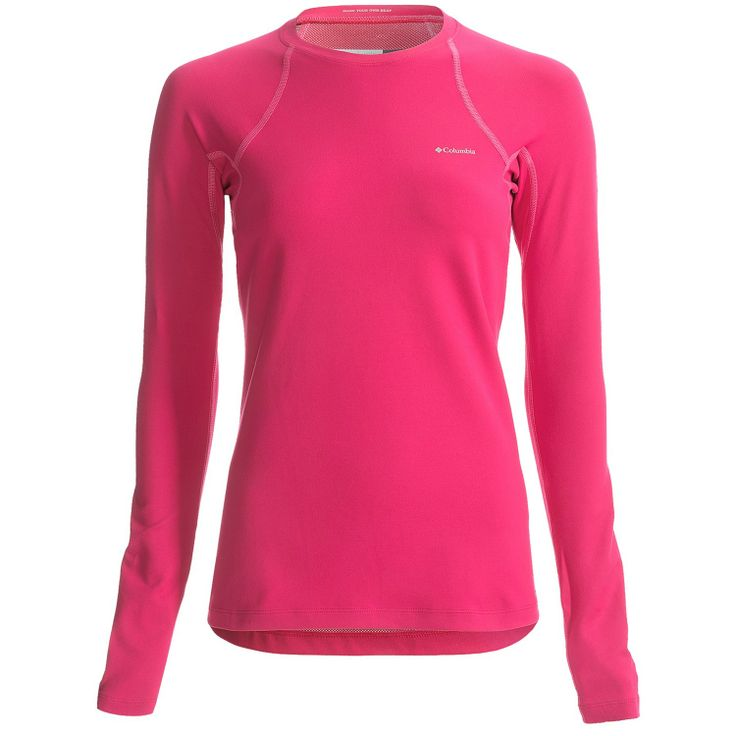 Women's Bright Rose Columbia Long Sleeve  Omni Heat Base Layer Top  - Outfitters, Grouse Mountain, Vancouver - Pin It To Win It Contest