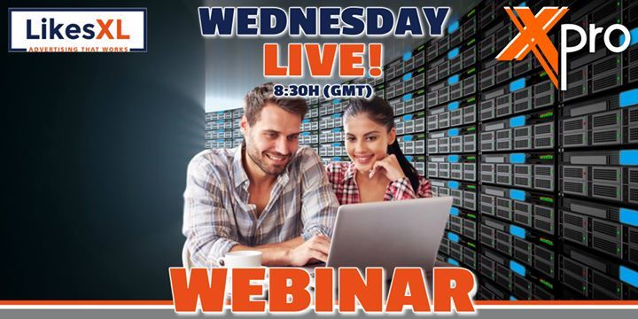 You are invited to join our Weekly LikesXL & XPro Webinar.   Today Wednesday 25th October 20:30 UTC (GMT)   Latest updates on LikesXL and Xpro!!!          http://bit.ly/2uDPoxQ  NOTE: GOOGLE CHROME BROWSER RECOMMENDED.