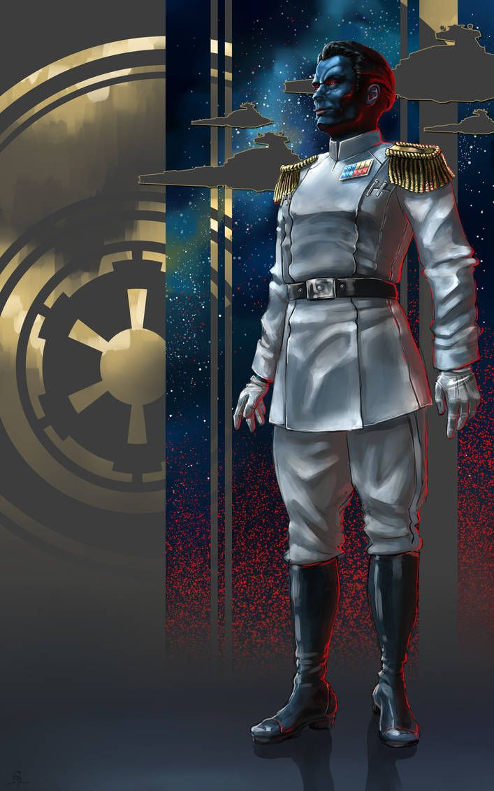 Thrawn By Feivelyn Star Wars Pictures Star Wars Empire Star Wars Background