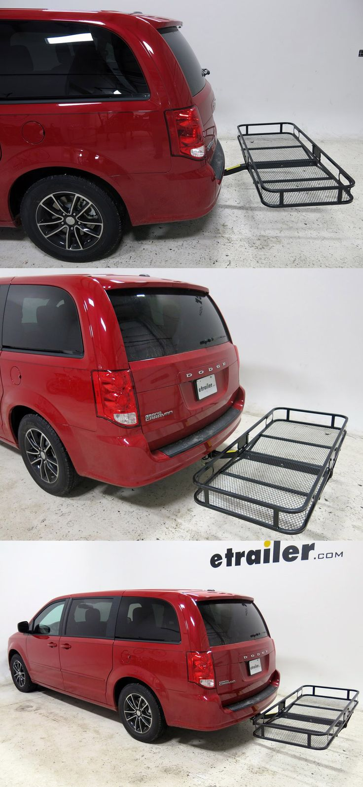 For carrying extra camping, hiking, fishing and other gear on long road trips and adventures! An awesome accessory for the Dodge Grand Caravan is the Pro Series Cargo Carrier - sturdy, black powder coated steel and corrosion resistant.