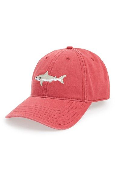 Harding-Lane Great White Shark Needlepoint Baseball Cap